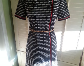 Vintage dress, vintage black dress, 1960's dress, 1960's fashion , leslie fay dress, hippie dress.