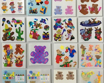 Vintage Sandylion Party, Holiday, Bedtime, Pearl, Dancing, Hearts, Bear Stickers