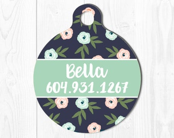 Pet ID Tags Pet Tag for Dogs Dog Tag for Dogs Pet id Tag Dog ID Tag Pet Gift Cat Tag Pet ID Dog Tag Pet id Tag Pet Tags Floral Custom