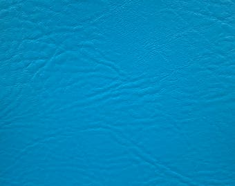 """Turquoise Vinyl Fabric Faux Leather Pleather Upholstery 54"""" Wide By the Yard"""