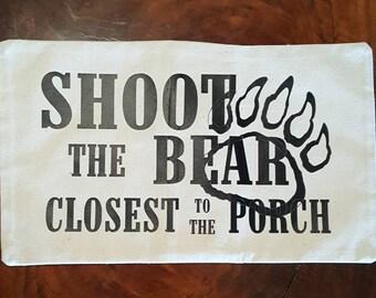 Shoot the Bear - Pillow