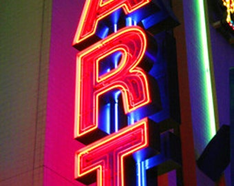 """Neon Sign """"ART"""" Fine Art Photographic Print in Various Sizes"""