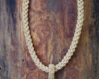 Necklace - Beige with Landscape Jasper pendant