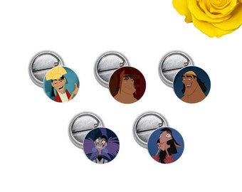 "The Emperor's New Groove Mini 1"" inch Pinback Button OR Magnet"