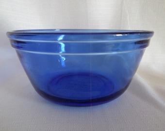 Anchor Hocking 1 Qt Cobalt Blue Mixing Bowls # 1056