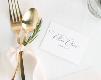 Ophelia Place Cards - Deposit