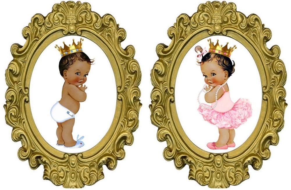 Prince Or Princess Gender Reveal Prints African American