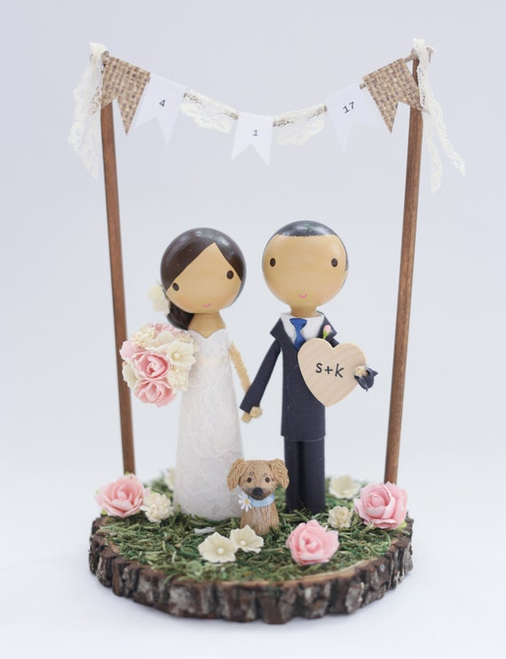 personalised wedding cake topper bunting custom wedding cake topper with bunting 18240
