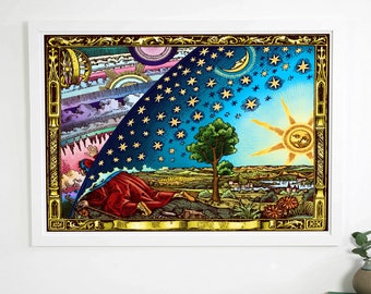 Flammarion Flat Earth Poster  (A3,A2 or A1)