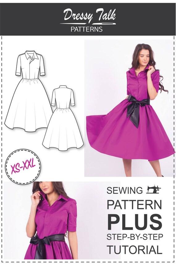 Shirt Dress Pattern Sewing Patterns Circle Skirt Dress