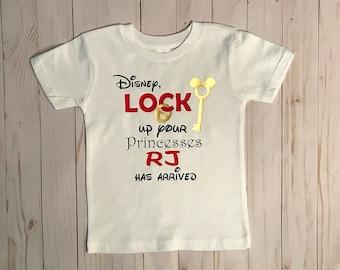 Disney Lock Up Your Princesses Shirt | Toddler Boy Disney Vacation Shirt | Personalized Boy Disney Shirt | Boy Disney Vacation Shirt
