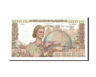 france 10000 francs 10 000 f 1945-1956 ''génie français'' 1956 km132d...