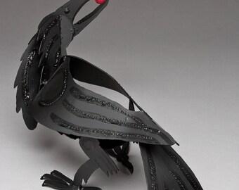 Steel Crow Sculpture