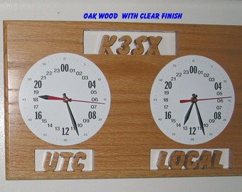 Dual 24 hour Military format Call Sign Clocks