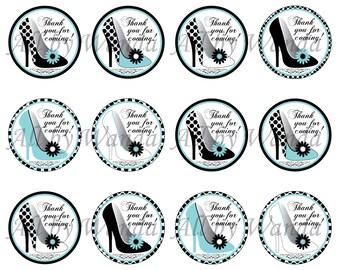 High Heels Bridal Shower/Bachelorette/Baby Shower Favor Tags-DIGITAL DOWNLOAD