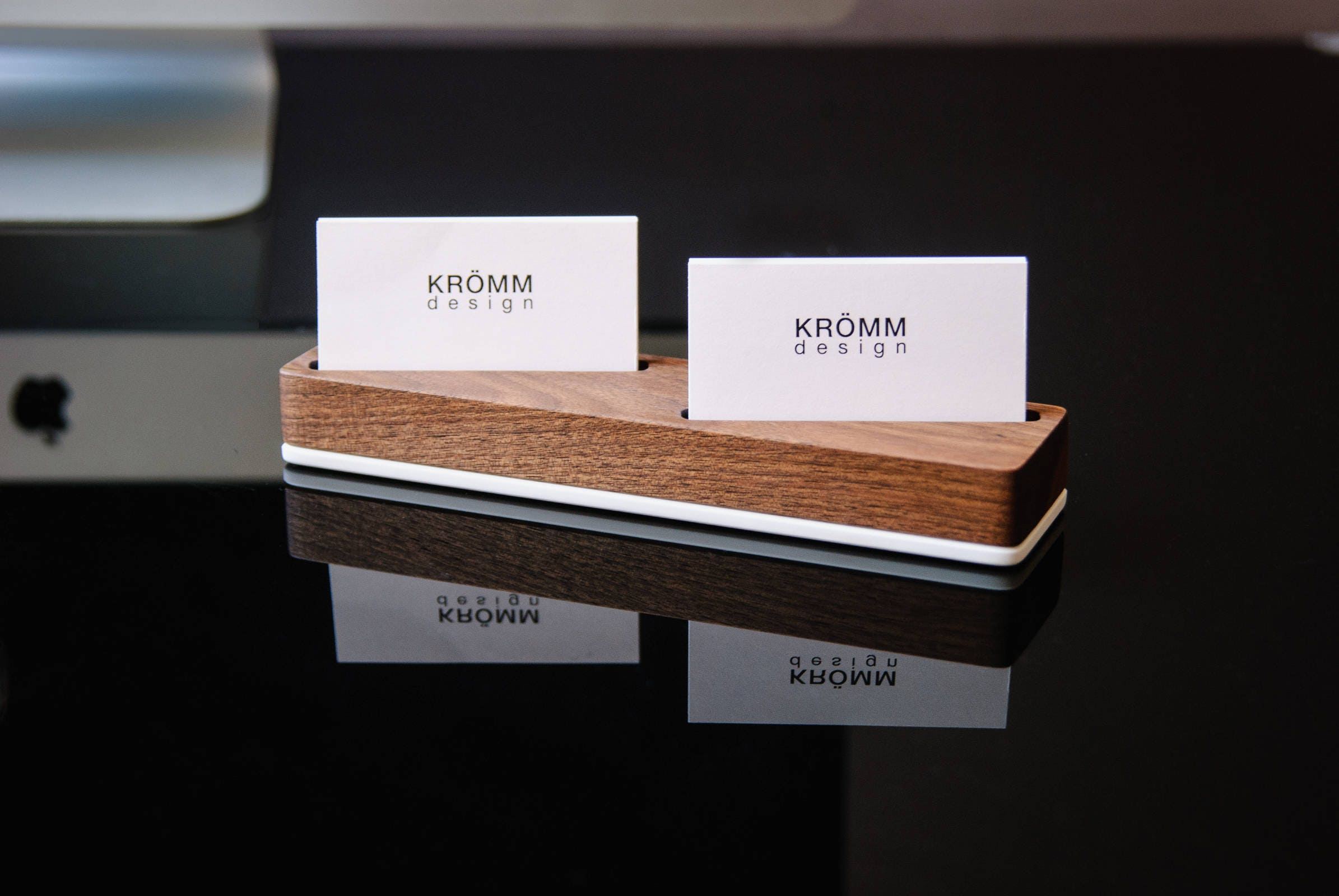Wood Business Card Stand for Horizontal Cards placed at angle/ Wood ...