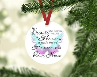 Memorial Ornament, Christmas Ornament, Memorial Gift, Ornament, Custom Ornament, Personalized, Memorial, Angel Ornament, Cemetery Decoration