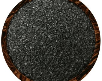 Black Hawaiian Sea Salt  4 ounces Free Shipping