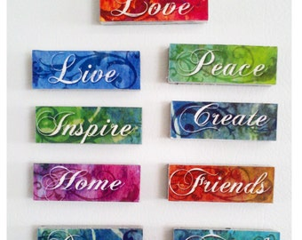Inspirational Word Magnets