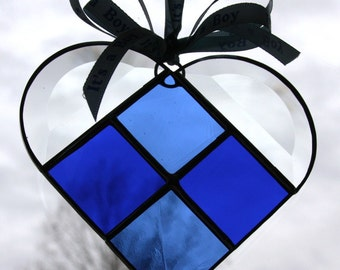 Royal Blue Stained Glass Heart