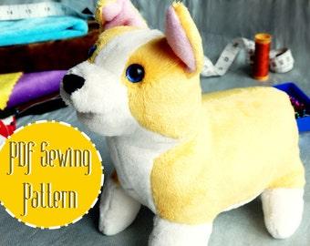 Corgi Plush plush pattern stuffed animal sewing PDF