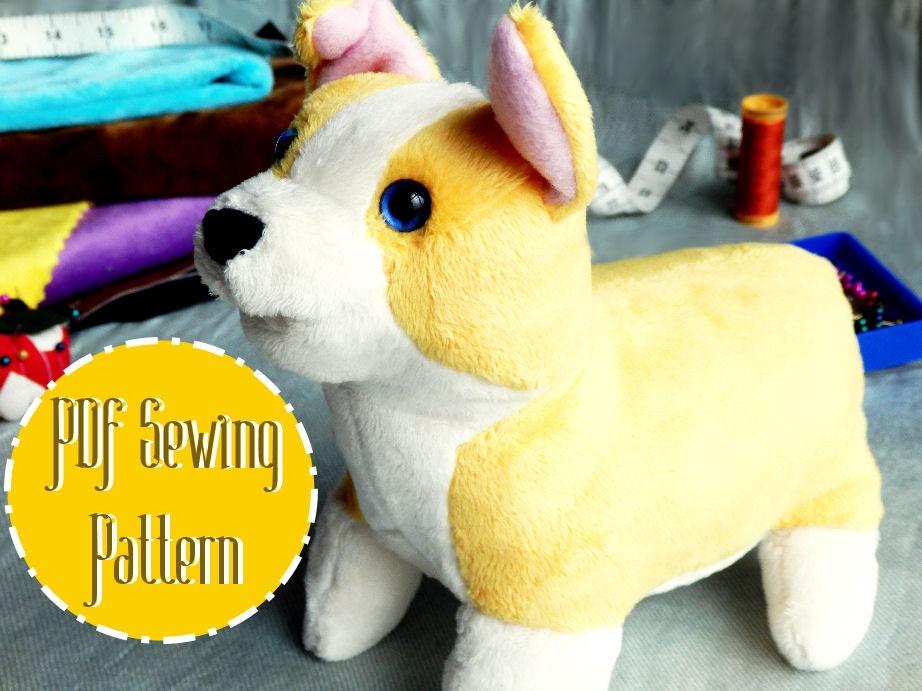 Corgi Plush plush pattern stuffed animal sewing PDF from ...