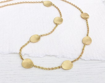 Flower Petals Necklace in 18k Yellow Gold, Eco Friendly, Handmade in the UK