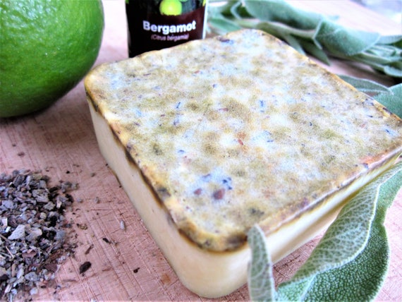 Sage and Bergamot Natural Homemade Bar Soap by Shawn's Soaps
