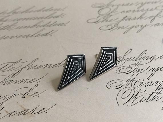 Silver Geometric Earrings, Kite Earrings, Diamond Shaped Earrings