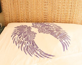 Angle Wings, Sheets,Hand Painted