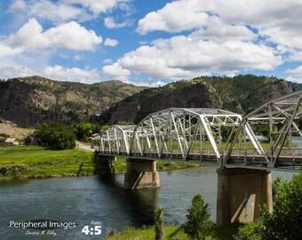 Contemporary Photography, Americana Wall Art, Landscape Fine Art Photography, Rural America Print Art, Bridge Wall Art Decor; Montana, USA
