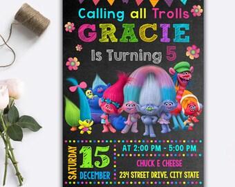 Trolls Invitation/ Trolls Birthday Invitation/ Trolls Birthday/ Trolls Party/ Trolls Invite/ Trolls Printable/ Trolls Card/ Trolls Digital