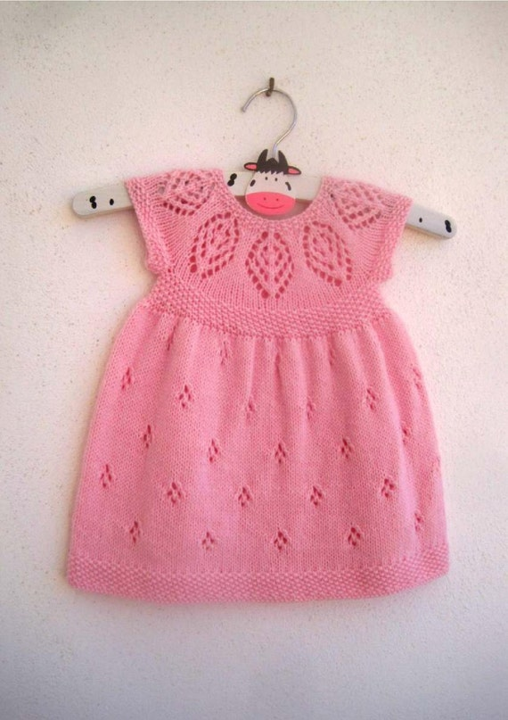 Isla Dress - Knitting Pattern - Baby girl to age 6 - Instant ...