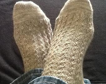 Handknit Socks - CHRISTIAN - Merino, Cashmere, Nylon