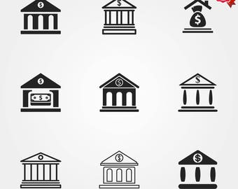 Bank icons, finance icons, icons, money icon, financial icons, bank building, business icons, banking and finance, building icon, bank logo