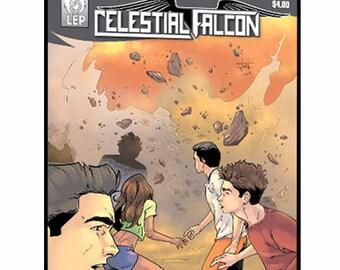 Celestial Falcon - Issue #1 - PDF - DIGITAL COPY - Comic Books - Indie Comics - 529 Studio - Last Ember Press - Super Hero