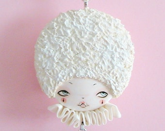 Pierrot Doll Face Necklace