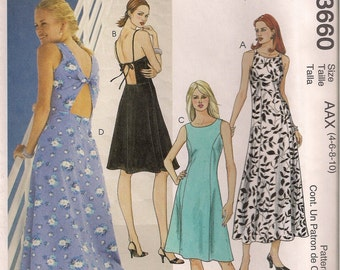 McCall's Sewing Pattern 3660 - Misses' Dress in Two Lengths (4-10)