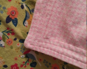Put a Bird On It cotton flannel baby blanket/swaddle