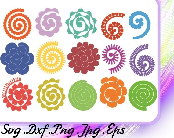 flowers svg 15 flowers rolled paperrolled origamipaper