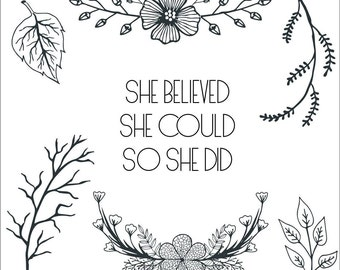 Clear Stamps _ She _ 047