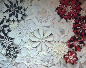 6X9ft Paper Flower Wall Backdrop - for wedding or special event