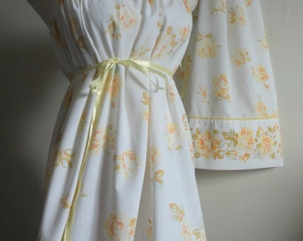 Mommy and Me Matching. Mother Daughter Clothing. Mommy and Me Matching Dresses. Matching Summer Dresses. Yellow Rose Dress. Matching Dresses