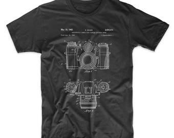 Camera Patent T Shirt, Camera Shirt, Photography Shirt, Camera Art, PP0006 Z1016