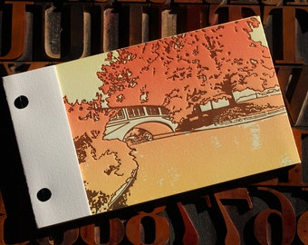 Fall Landscape Matchbook Journal