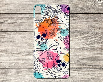 Skulls and Flowers TPU Case For iPhone 5/5S 6/6S 7 8 & X (S2777)
