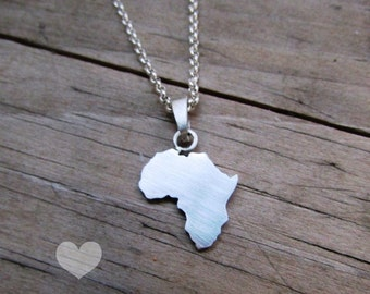 sterling silver africa necklace african necklace