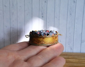 Dollhouse Miniature   bowl of coals  for  fireplace, furnace, Effect still hot,  scale one inch,  scale miniature