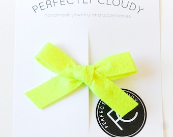 NEON YELLOW Madeline bows - bows for infants - bow sets - mini nylon bows - Rifle Paper Co. bows - baby girl bow - tiny headband bows