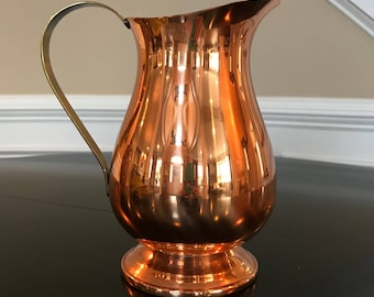 Vintage CopperCraft Guild Copper and Brass Pitcher